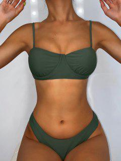 ZAFUL Bikini De Balconet Con Aros En La Espalda - Verde Camuflaje M
