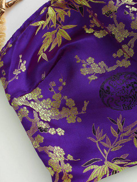 Top a Fascia Floreale Annodato di ZAFUL - Viola L Mobile