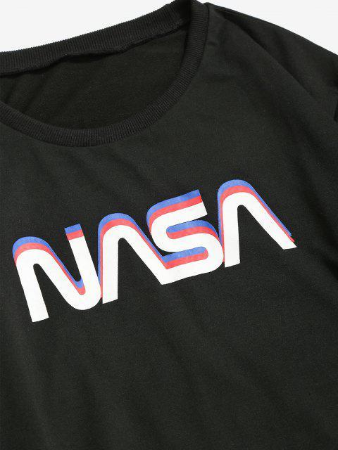 fancy ZAFUL Space Shuttle Program Graphic Sweatshirt - BLACK L Mobile