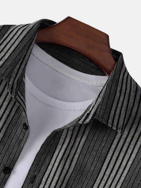 ストライプのシャツ - グレー 2XL Mobile
