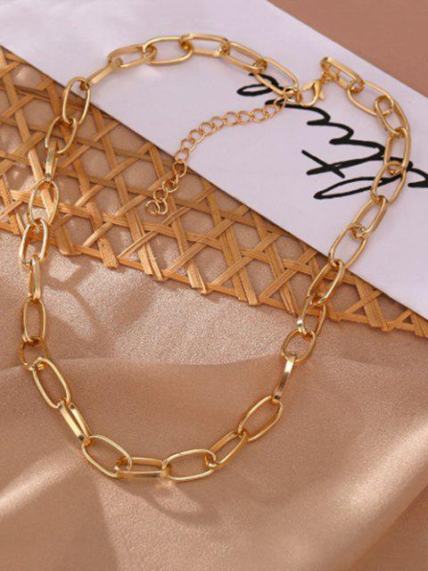 online Chunky Chain Collarbone Necklace - GOLDEN  Mobile