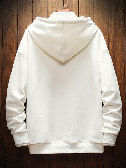 outfit Graphic Print Casual Drop Shoulder Hoodie - WHITE XL Mobile