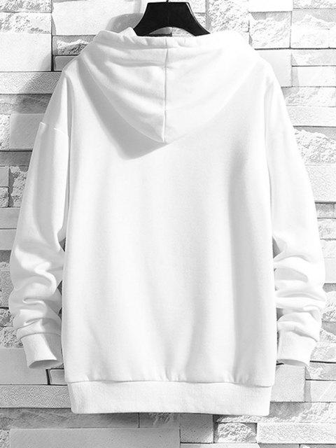 new Power Full Battery Print Drop Shoulder Hoodie - WHITE M Mobile