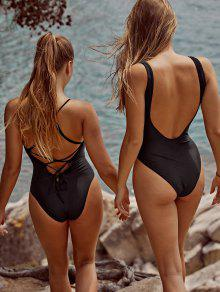 ZAFUL Cutout Backless Solid One piece Swimsuit