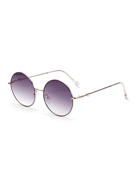 shop Circular Metal Leg Sunglasses - MULTI-A