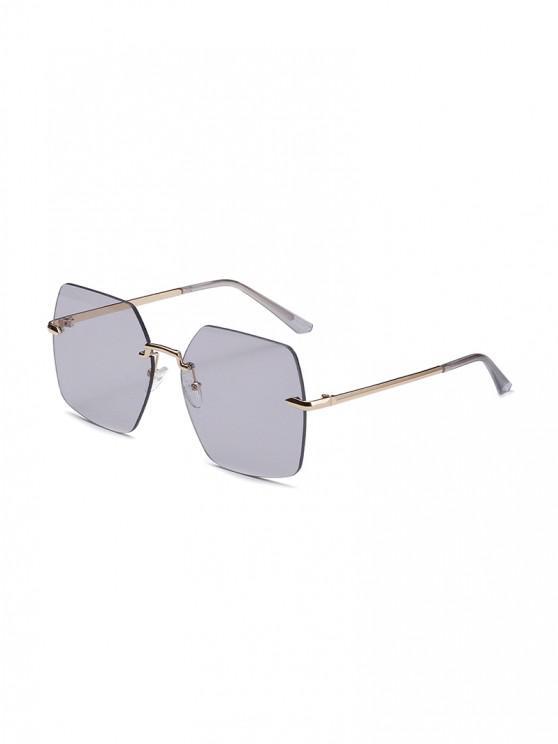 latest Metal Retro Rimless Irregular Sunglasses - LIGHT GRAY