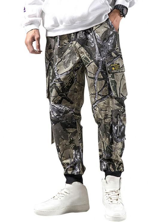 Pantalones Diseño Camuflaje Militar - Verde Camuflaje S