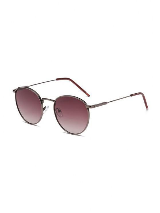unique Retro Round Shape Anti UV Sunglasses - MAROON