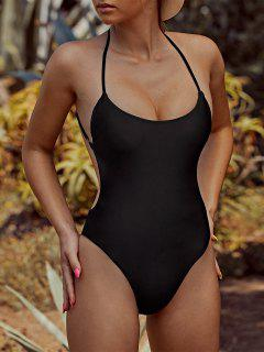 ZAFUL Criss Cross Backless One-piece Swimsuit - Black S