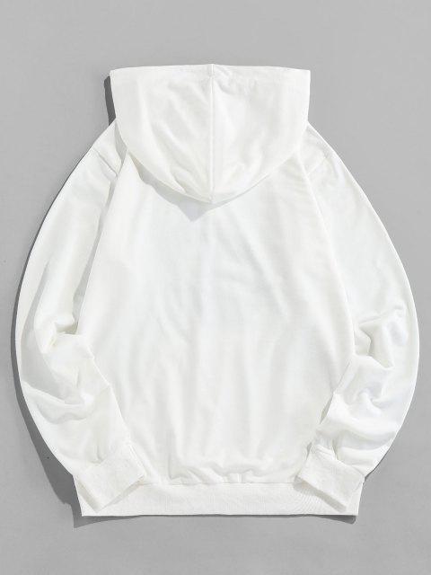 ZAFUL Känguru-Tasche Tai Chi DruckHoodie - Weiß 2XL Mobile