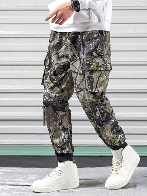 Pantalones Diseño Camuflaje Militar - Verde Camuflaje L Mobile