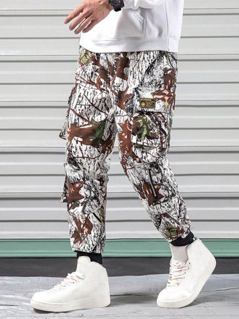 Pantalones Diseño Camuflaje Militar - Blanco XS Mobile