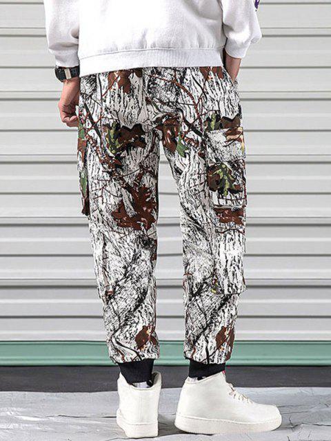 Pantalones Diseño Camuflaje Militar - Blanco XL Mobile