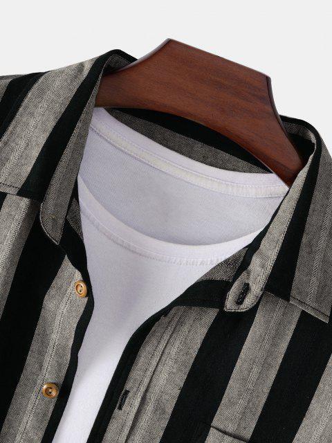 El Bloqueo del Color del Bolsillo del Remiendo de La Camisa - Multicolor 2XL Mobile