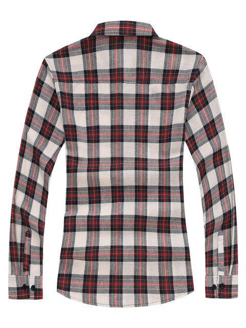 タータンチェックロングスリーブシャツ - 赤 XS Mobile
