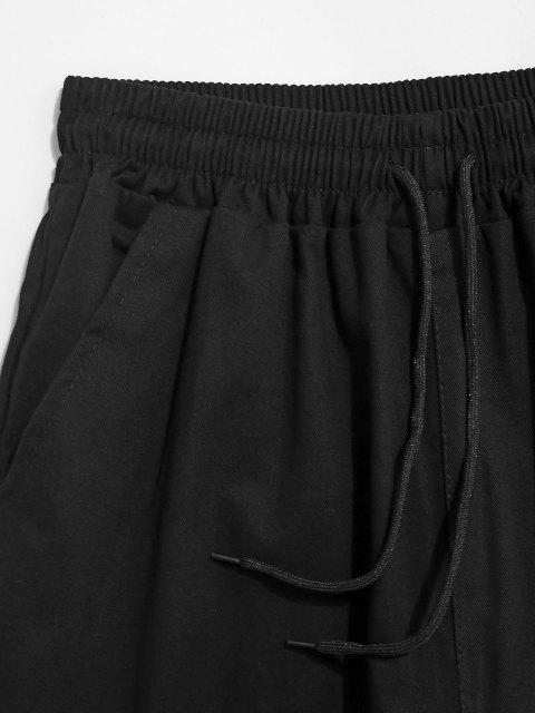 Pantalones con Cordones y Bolsillos - Negro XS Mobile