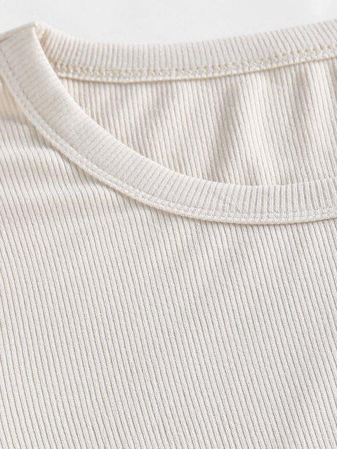 ZAFUL Mini Vestido Ajustado con Cordones Frontales - Amarillo claro M Mobile