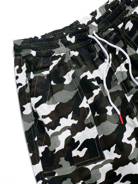 Camouflagedruck Multi Taschen Lounge Cargohose - Grün XL Mobile