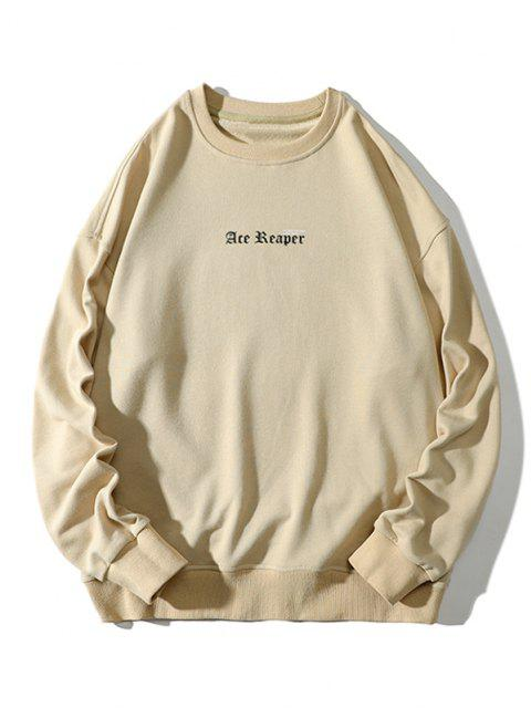 latest Letter Butterfly Print Rib-knit Trim Sweatshirt - LIGHT YELLOW 3XL Mobile
