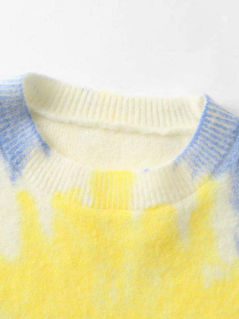 Suéter Tamanho Grande Tingido - Azul Um Tamanho Mobile