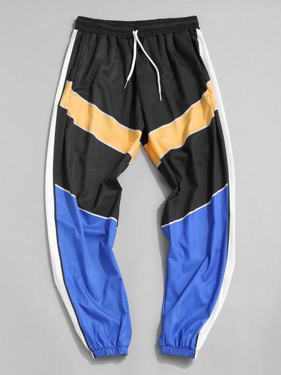 Pantalones Ajustados Bloque Color - Multicolor-A 3XL