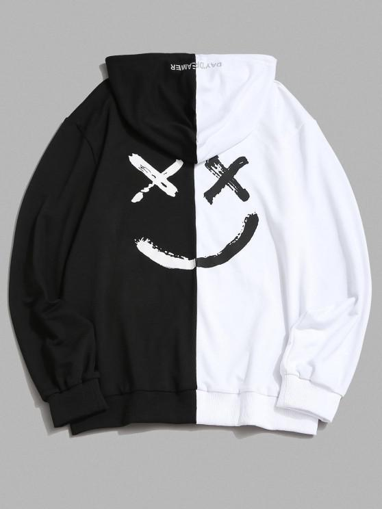new ZAFUL Letter Print Contrast Slogan Hoodie - WHITE M
