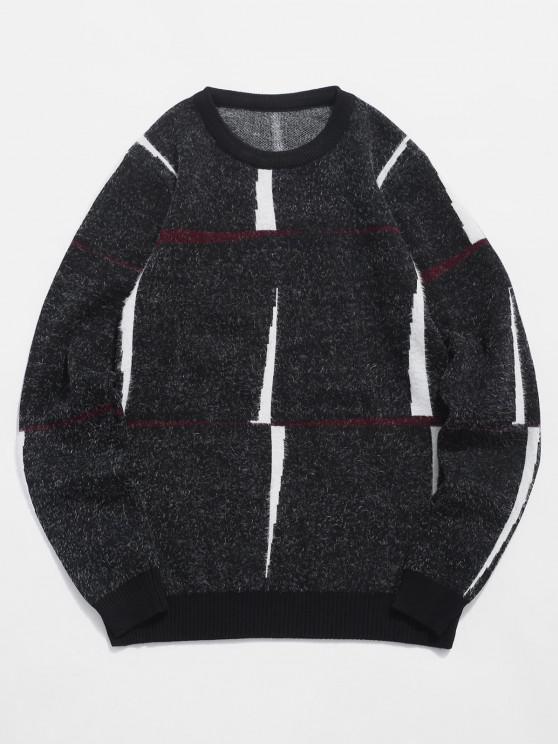 Jersey Cuello Redondo Estampado Letra - Negro M