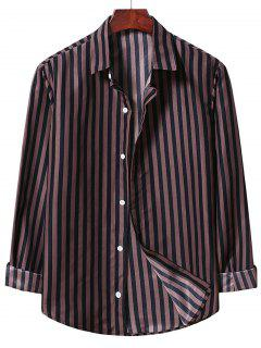 Casual Stripe Shirt - Brown Bear M