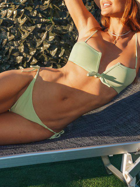 new ZAFUL Seductive Honeydew Melon V Wired Bikini - LIGHT GREEN S Mobile