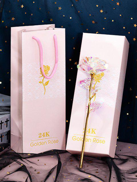fashion 24K Foil Plated Artificial Rose Flower - MULTI  Mobile