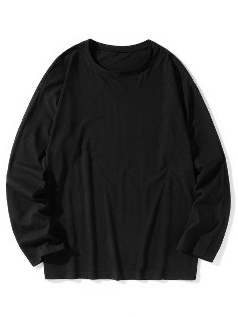 Camiseta emagrecedora de mangas longas - Preto 3XL Mobile