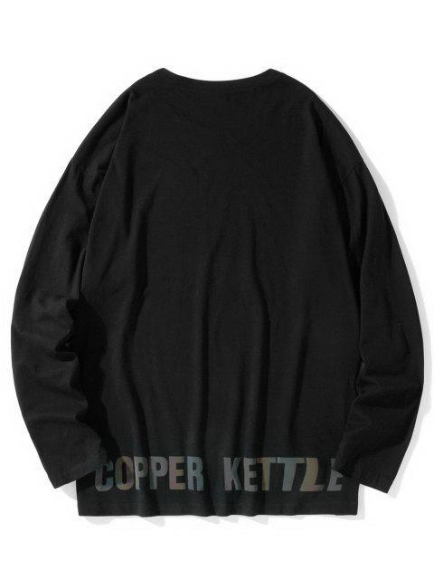 Camiseta emagrecedora de mangas longas - Preto L Mobile
