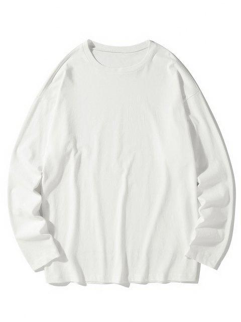 Camiseta emagrecedora de mangas longas - Branco 3XL Mobile