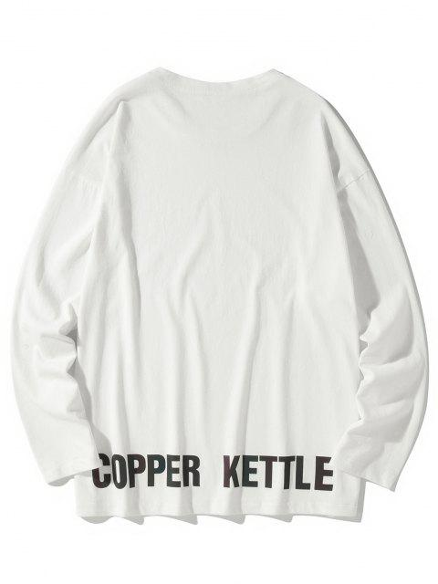 Camiseta emagrecedora de mangas longas - Branco 4XL Mobile