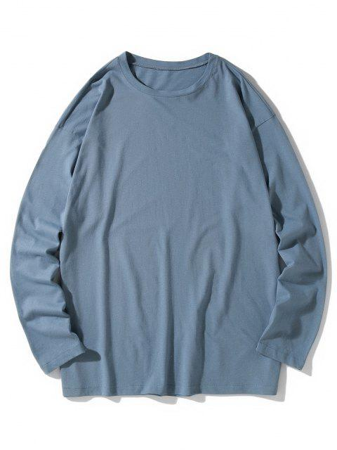 Camiseta emagrecedora de mangas longas - Seda de Azul M Mobile