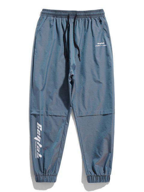 Buchstabe Grafik Lässige Reflektierende Beam Füße Hose - Blaue Koifisch 2XL Mobile