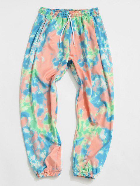 Pantalones Desteñidos Estampado Teñido - Multicolor-A 3XL Mobile