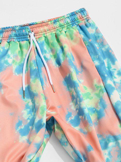 Pantalones Desteñidos Estampado Teñido - Multicolor-A M Mobile