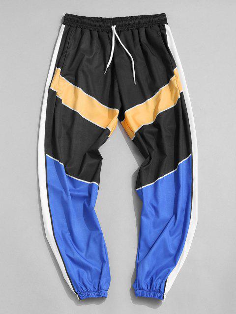 Pantalones Ajustados Bloque Color - Multicolor-A XL Mobile