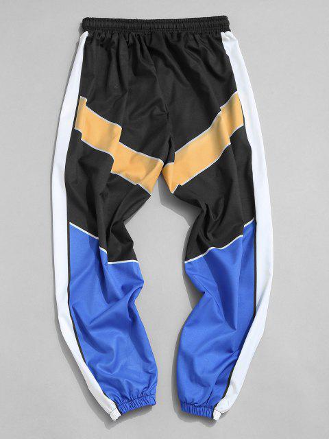 Pantalones Ajustados Bloque Color - Multicolor-A 3XL Mobile