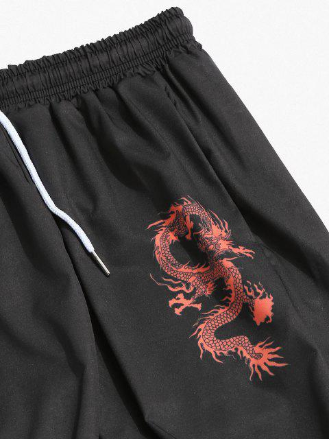 Pantalones Estampado Dragón - Negro 3XL Mobile