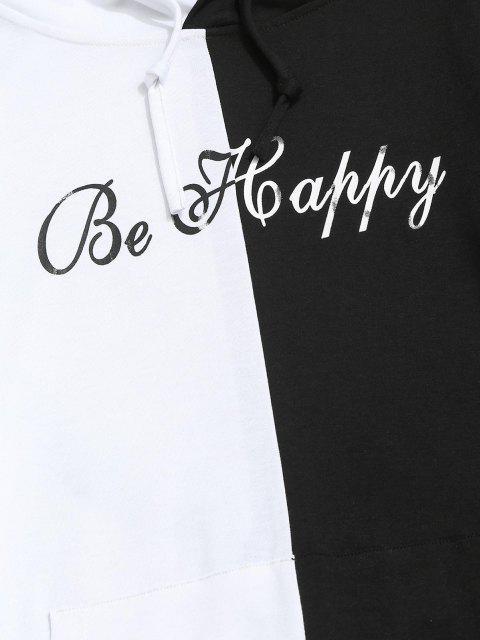 ZAFUL Buchstabedruck Kontrast Slogan Hoodie - Weiß S Mobile