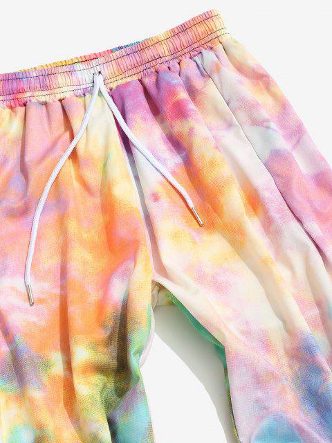 Pantalones Rayados Estampado Teñido de Colores - Cerdo Rosa 2XL Mobile