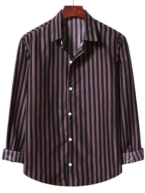 outfit Casual Stripe Shirt - BROWN BEAR M Mobile