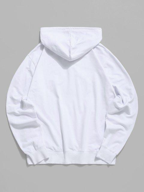 outfits Wink Eye Graphic Pouch Pocket Drawstring Hoodie - WHITE 2XL Mobile