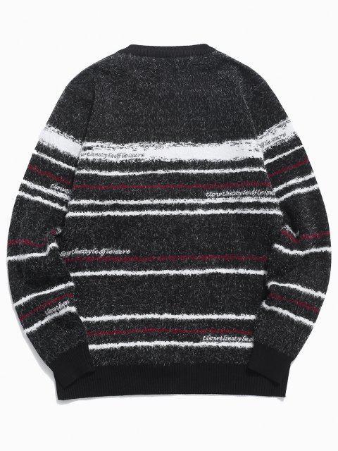 Jersey Cuello Redondo Rayado - Negro S Mobile