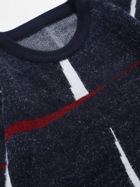 womens Crew Neck Fuzzy Graphic Sweater - CADETBLUE XS Mobile