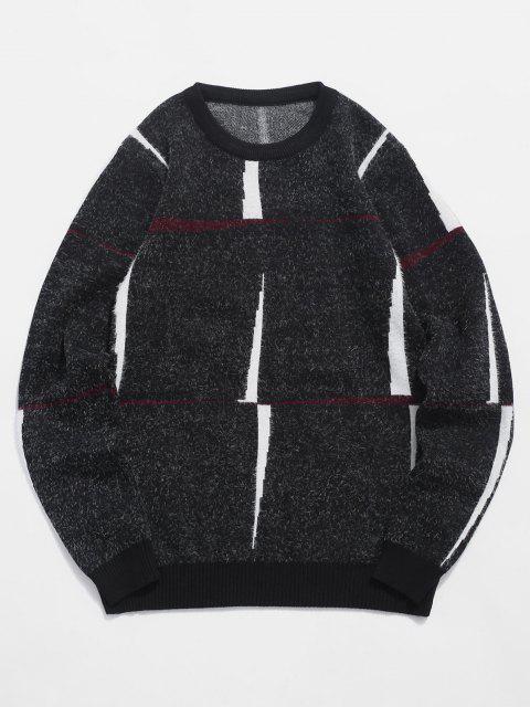 Jersey Cuello Redondo Estampado Letra - Negro S Mobile