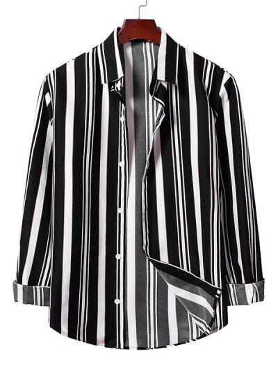 Buton De Sus Striped Shirt - Negru L