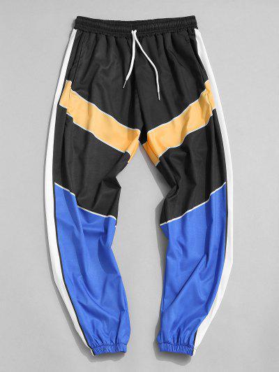 Pantalones Ajustados Bloque Color - Multicolor-a 2xl
